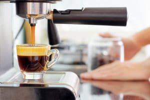 coffee machine in kitchen renovation